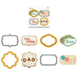 Decora Decora mini Plaque set/4