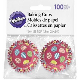 Wilton Wilton Mini Baking Cups Paasei pk/100