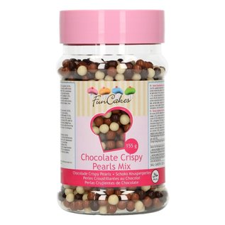 FunCakes FunCakes Chocolade Crispy Pearls -Mix- 155g