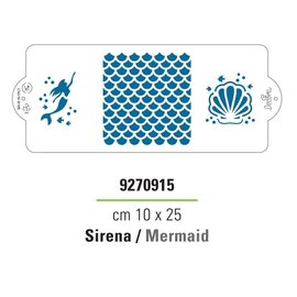 Decora Decora Stencil Mermaid 25x10cm