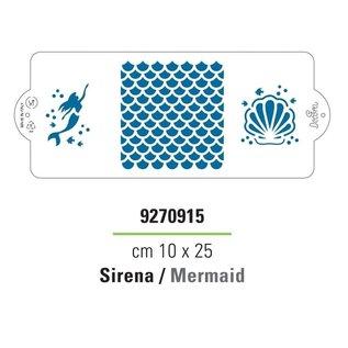 Decora Decora Stencil Mermaid 25x10cm