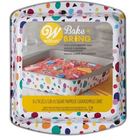 Wilton Wilton Semi-Disposable Tin Geo Square 20cm