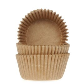 House of Marie HOM Mini Baking cups Kraft- pk/24