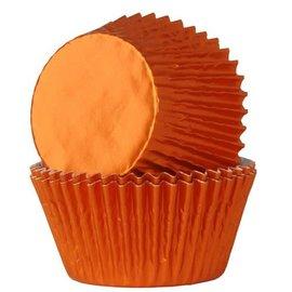 House of Marie HOM Baking Cups Folie Oranje pk/24