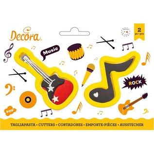Decora Decora Muzieknoot & Gitaar Koekjes Uitsteker set/2