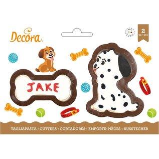 Decora Decora Hond & Bot Koekjes Uitsteker set/2