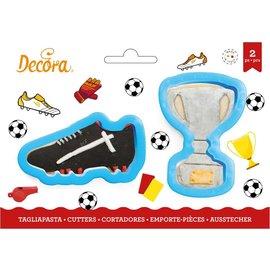 Decora Decora Trofee & Voetbalschoen Koekjes Uitsteker set/2