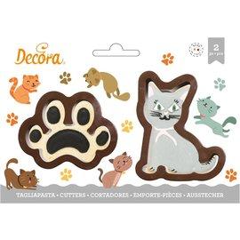 Decora Decora Kat & Poot Koekjes Uitsteker set/2