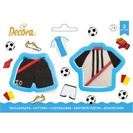 Decora Decora Voetbal T-Shirt & Broek Koekjes Uitsteker set/2