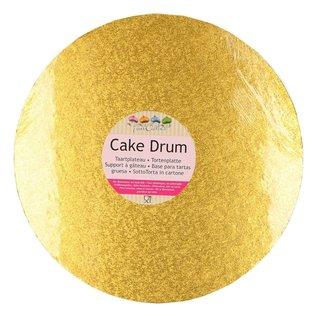 FunCakes FunCakes Cake Drum Rond Ø25cm -Goud-