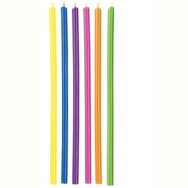 Wilton Wilton Candles Long Multicolor pk/12
