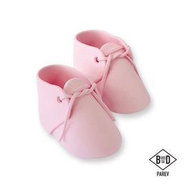 PME PME Edible Cake Topper Baby Bootee Pink pk/2