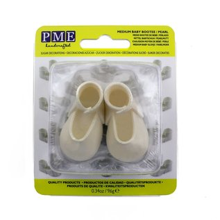 PME PME Edible Cake Topper Medium Baby Bootee -Pearl-