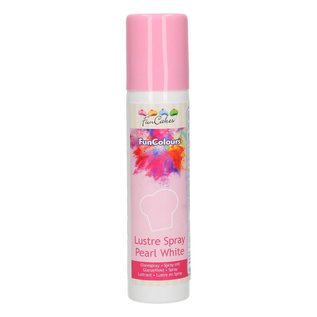 FunCakes FunColours Lustre Spray -Pearl White- 100ml