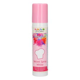 FunCakes FunColours Velvet Spray -White- 100ml