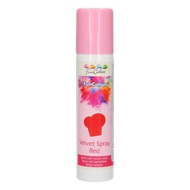 FunCakes FunColours Velvet Spray -Red- 100ml