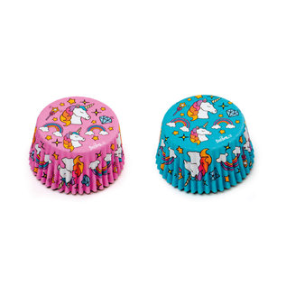 Decora Decora Unicorn Baking Cups blauw roze pk/36