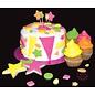 ScrapCooking Fluo kleurpoeder Rose / Roze / Pink
