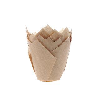 Tulpvorm Muffinpapiertjes - Kraft