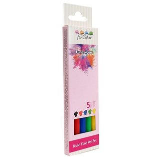 FunCakes FunColours Brush Food Pen Primary Set/5 Stiften