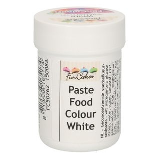 FunCakes FunColours Paste Food Colour - White Snow 30g