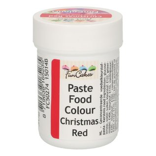 FunCakes FunColours Paste Food Colour - Christmas Red 30g