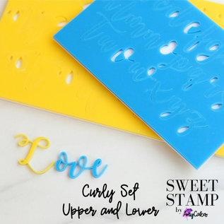 Sweet Stamp Curly Set (groen) - Hoofd en Kleine Letters