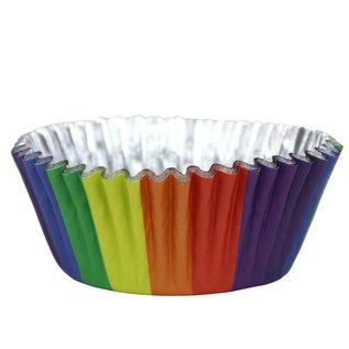 PME PME Foil Lined Baking Cups Rainbow Colours pk/30