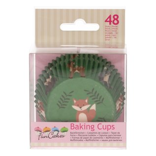 FunCakes FunCakes Baking Cups -Forest Animals- pk/48