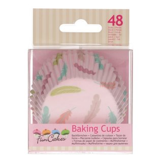 FunCakes FunCakes Baking Cups -Pastel Feathers- pk/48