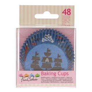 FunCakes FunCakes Baking Cups -Piraat- pk/48
