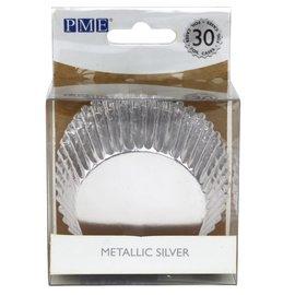 PME PME Baking Cups Zilver 30 stuks