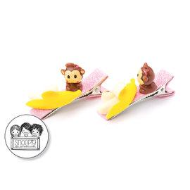 Snoepig Snoepig Haarknipjes - Aapje Banaan