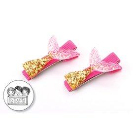 Snoepig Snoepig Haarknipjes - Zeemeermin (goud/roze)
