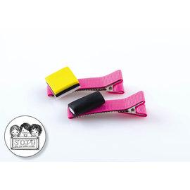 Snoepig Snoepig Haarknipjes - Engelse Drop roze knipjes