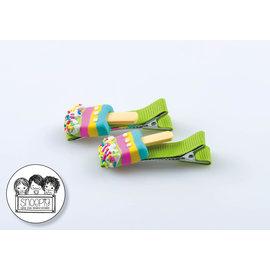 Snoepig Snoepig Haarknipjes - IJsjes op stokjes (Groene Knipjes)