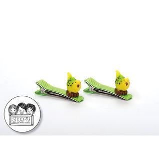Snoepig Snoepig NeonHaarknipjes met Parkietjes