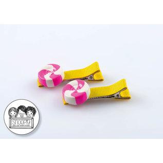 Snoepig Snoepig Haarknipjes Zuurtjes - Gele Knipjes