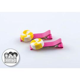 Snoepig Snoepig Haarknipjes Zuurtjes - Roze Knipjes