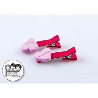 Snoepig Snoepig Haarknipjes - Snoephartjes (roze)