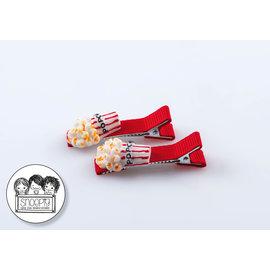 Snoepig Snoepig Haarknipjes Popcorn - Rode Knipjes