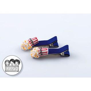 Snoepig Snoepig Haarknipjes Popcorn - Blauwe Knipjes