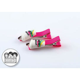 Snoepig Snoepig Haarknipjes Milkshake - Neon Roze Knipjes