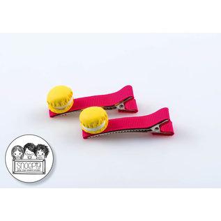Snoepig Snoepig Haarknipjes Macarons - Fuchsia Knipjes
