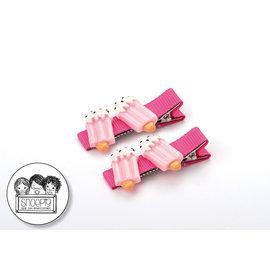 Snoepig Snoepig Haarknipjes - 2 waterijsjes (Roze Knipjes)