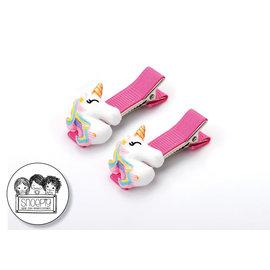 Snoepig Snoepig Haarknipjes Unicorns - Regenboog Unicorn Roze Knipjes