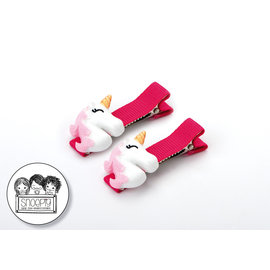 Snoepig Snoepig Haarknipjes Unicorns - Roze Unicorn Neonroze Knipjes