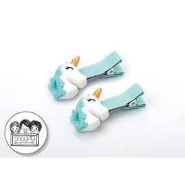 Snoepig Snoepig Haarknipjes Unicorns - Mint Unicorn Mint Knipjes