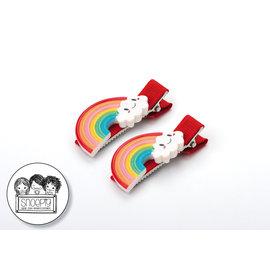 Snoepig Snoepig Haarknipjes Regenboogjes - Rode Knipjes
