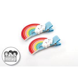 Snoepig Snoepig Haarknipjes Regenboogjes - Blauwe Knipjes